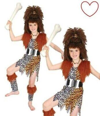 Kinder Kostüm Höhlenmädchen Steinzeit Buch Tag - Höhle Mädchen Kostüm
