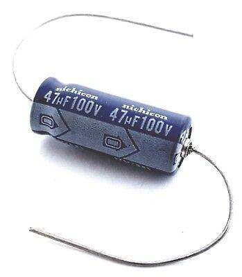 47uf 100v Axial Aluminum Electrolytic Capacitor Nichicon Tvx2a470maa 15 Pcs