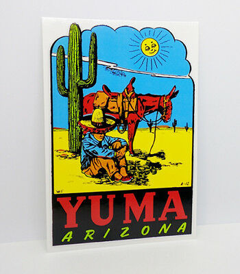 YUMA, ARIZONA Vintage Style Travel DECAL / Vinyl Sticker, Luggage Label