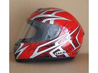 TAKAI motorbike helmet size XL 620 1550g RED design