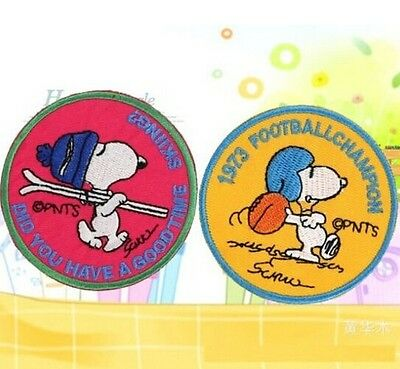 FD814 Embroidered Cloth Iron On Sew Patch Motif Applique Cartoon Dog ~2PCs~$