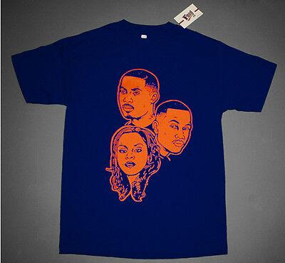 NWT Fnly94 Navy Blue Orange The Firm Biz shirt Nas Az Foxy hip hop classic M-3XL