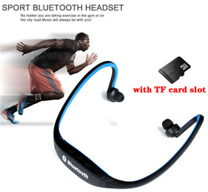 Wireless Headphones Bluetooth with Microphone and SD Card Slot