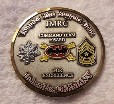 AUTHENTIC JOINT JMRC HOHENFELS GERMANY VAMPIRE FIRE SUPPORT OC CHALLENGE COIN