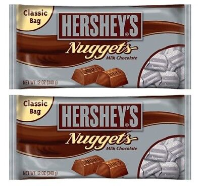 (Hershey's Nuggets Milk Chocolate Candy 2 Bag Pack)