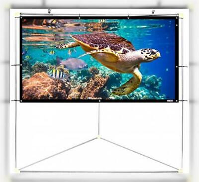 60/'/' Portable Foldable Wall Projector Screen Matte 16:9 HD Theater Outdoor J3U4