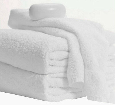 12 PACK! WHITE 100%cotton Hotel bath towels 22x44 NEW ABSORBENT MLF BRAND