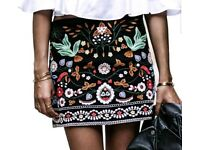 New minie skirt- hand made embrodery size M