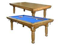 7ft x 4ft Oak Dining/Pool Table