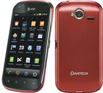 (New Pantech Burst P9070 4G 16GB AT&T Unlocked GSM Android Smartphone Red)
