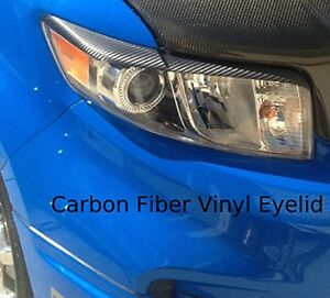 XB 3M Carbon Fiber Headlight Eyelid Overlays. Pre-cut scotchprint graphic film