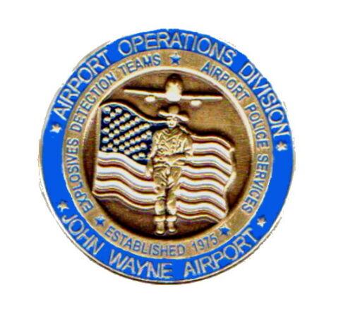 John Wayne Pin Airport Orange County CA Sheriff Department Detail Lapel Hat Pins