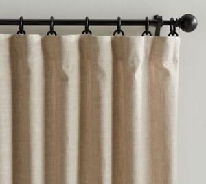 Light filtering Oatmeal Cotton/Poly curtain