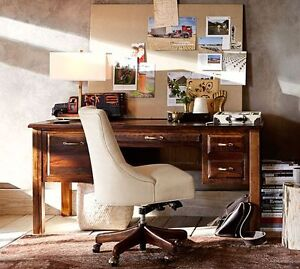 Pottery Barn Reclaimed Wood Desk and Chair