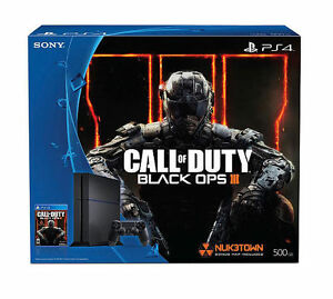 e01ab90b24738 Sony PlayStation 4 Call of Duty  Black Ops III - Standard Edition 500GB Jet Black  Console