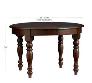 Pottery Barn Solid Wood mahogany table with leaf