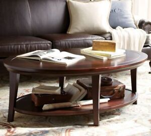 Pottery Barn Oval Coffee Table Only $349 or best offer