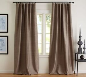 Pottery Barn silk curtains and Umbra curtain rods