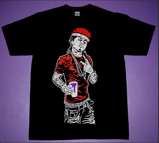 New 7 Lil Wayne  Carter raptor vii Purple Red colors  shirt Trukfit  Cajmear 2XL