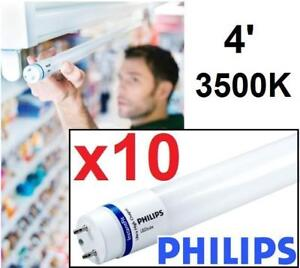 10 OB PHILIPS T8 LED LAMPS 16.5W 463133 164915314 BULB LIGHTING Medium Bi-Pin (G13), 2500 Lumens, 3500K 4' OPEN BOX