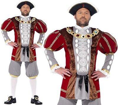VIII Maskenkostüm Historisch König Outfit M-XL Neu Smiffys (König Henry Kostüm)