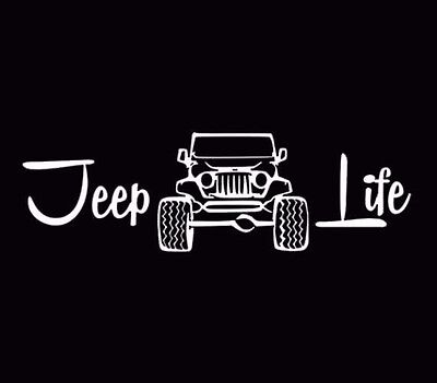 Jeep Life Funny Vinyl Window Decal Car Truck Stickers