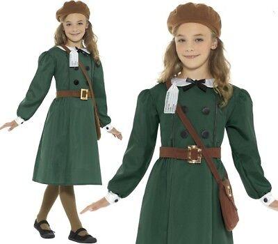 Mädchen 40er Jahre 1940er Kostüm Kinder Outfit Grün von - 40er Jahre Kleid Kostüm