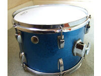 "LUDWIG. BLUE SPARKLE 12 X 8"" TOM TOM."