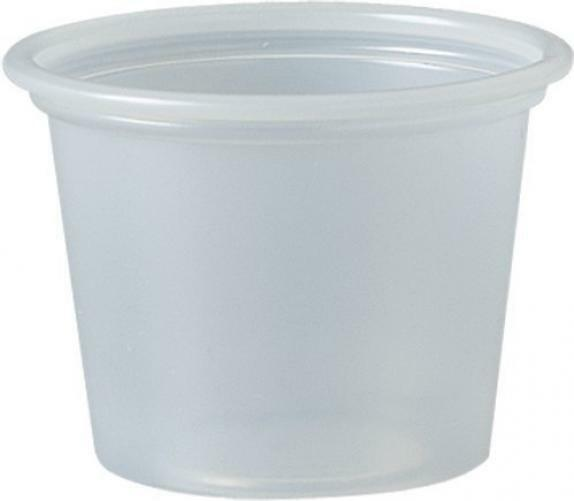 Dart 100PC 1 oz Plastic Souffle Portion Cup Translucent Disp