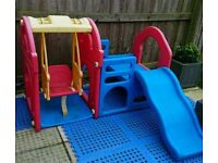 Child's swing and slide set SOLD.