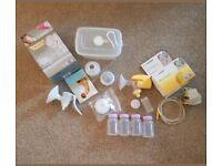 Medela Mini Electric Breast Pump and Tommee Tippee Breast Pump (Manual) Bundle