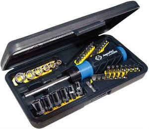 ck t4826d hi torque ratchet screwdriver bit socket set ebay. Black Bedroom Furniture Sets. Home Design Ideas