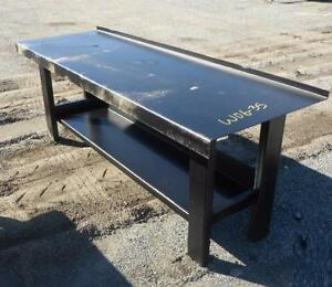 NEW HEAVY DUTY WELDING WORK BENCH SOLID STEEL 2000LBS + CAP SHOP