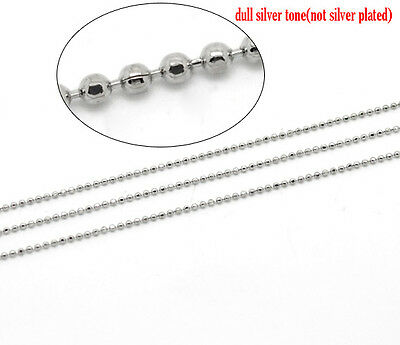 - 10M Silver Tone Faceted Ball Chain 1.5mm Findings SP1098
