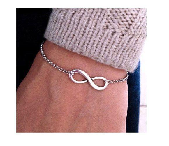 Silbernes Armband Unendlichkeitszeichen Inifinity Armreif Armschmuck 1€