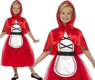 Mädchen Deluxe Rotkäppchen Mädchen Kostüm Verkleidung Kinder Outfit von Smiffys