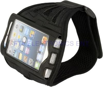Black Premium Full Running Sports Gym Armband Case Cover For iPhone SE & 5th Gen