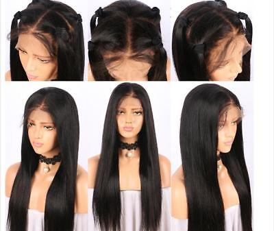 US Wigs Pre-Plucked 100% Human Hair Full Lace Wigs-Lace Front Wigs Straight ()