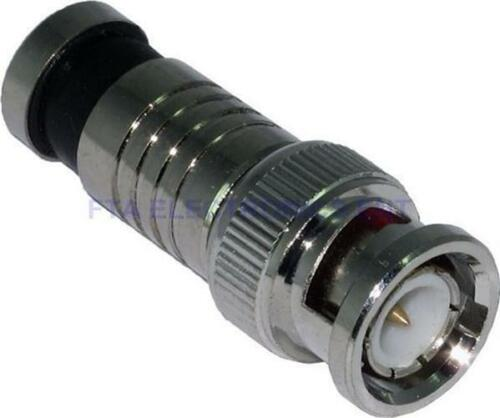 100Pcs RG59 BNC Weatherproof Sealed Compression Connectors CCTV Camera DVR