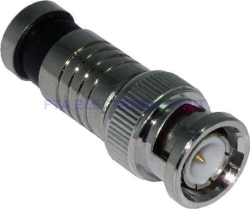 30Pcs RG59 BNC Weatherproof Sealed Compression Connectors CCTV Camera DVR
