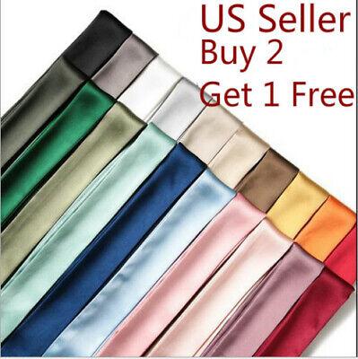Silk like Twilly Scarf Pure Twill Handbag Handle Wrap Scarves Hair Bow Ribbon](Hair Scarf)