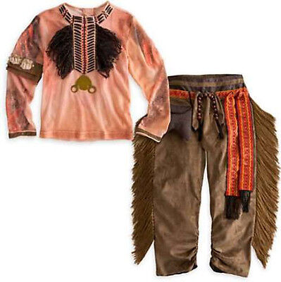 Native American Indian Boy's Tonto Western Halloween Costume Size (s) 2 3 2/3 4
