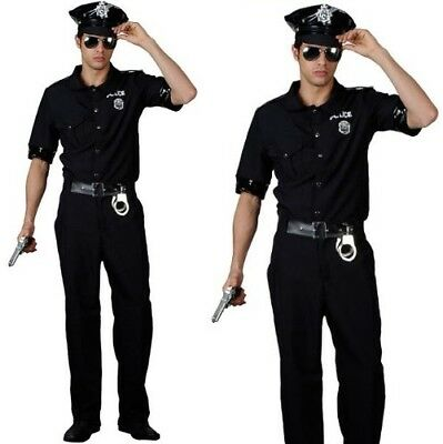 Mens New York Cop Fancy Dress Costume Men's US Police Outfit New](Cop Outfit For Men)