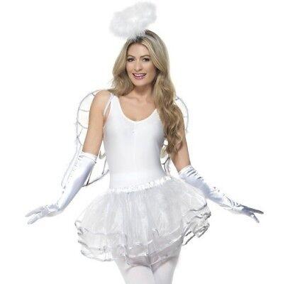 Smiffy Engel Kostüm (Weihnachten Verkleidung Instant Engel Lady Satz Tutu Wings Halo von Smiffys Neu)
