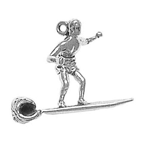 Sterling Silver Surfer Surfing Charm Jewelry Bracelet Necklace Jewellery Stores