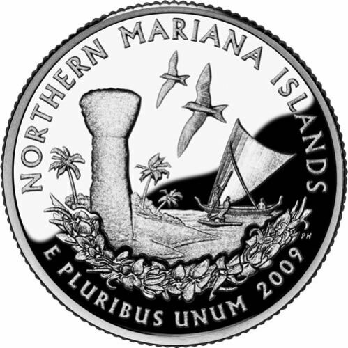 2009 P&D - Northern Mariana Islands U.S. Territorial Quarter Dollar Set
