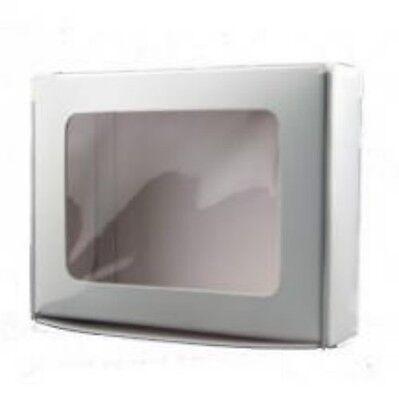 12 - 1 Piece Die Cut White Window Cookie Boxes