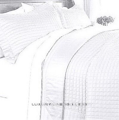 hotel modern reversible solid pure white quilt