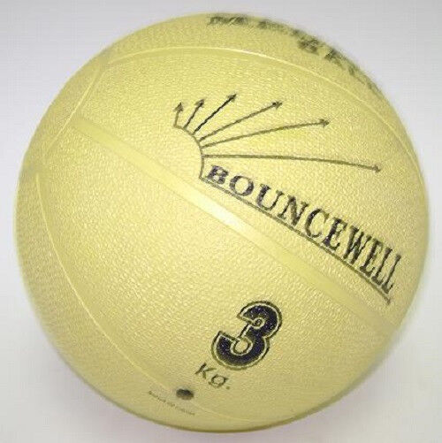 3 kg (6 .6 lb) rubber bouncing weighted medicine ball