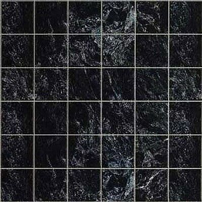 Black Marble Dollhouse Tile Flooring #MH5956